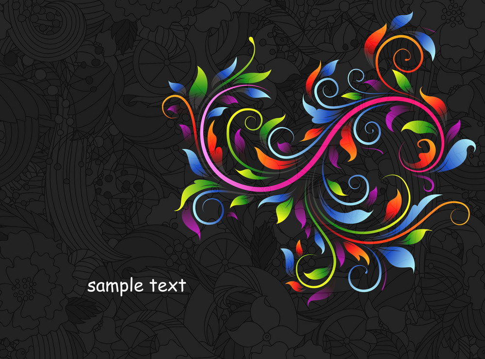 Abstract Floral Background Vector Illustration