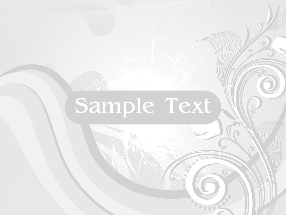 Abstract Floral Background With Sample Text