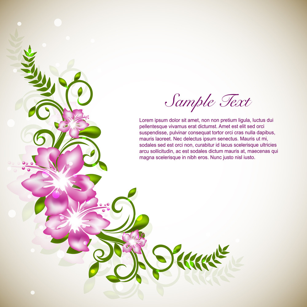 Abstract Floral Background.