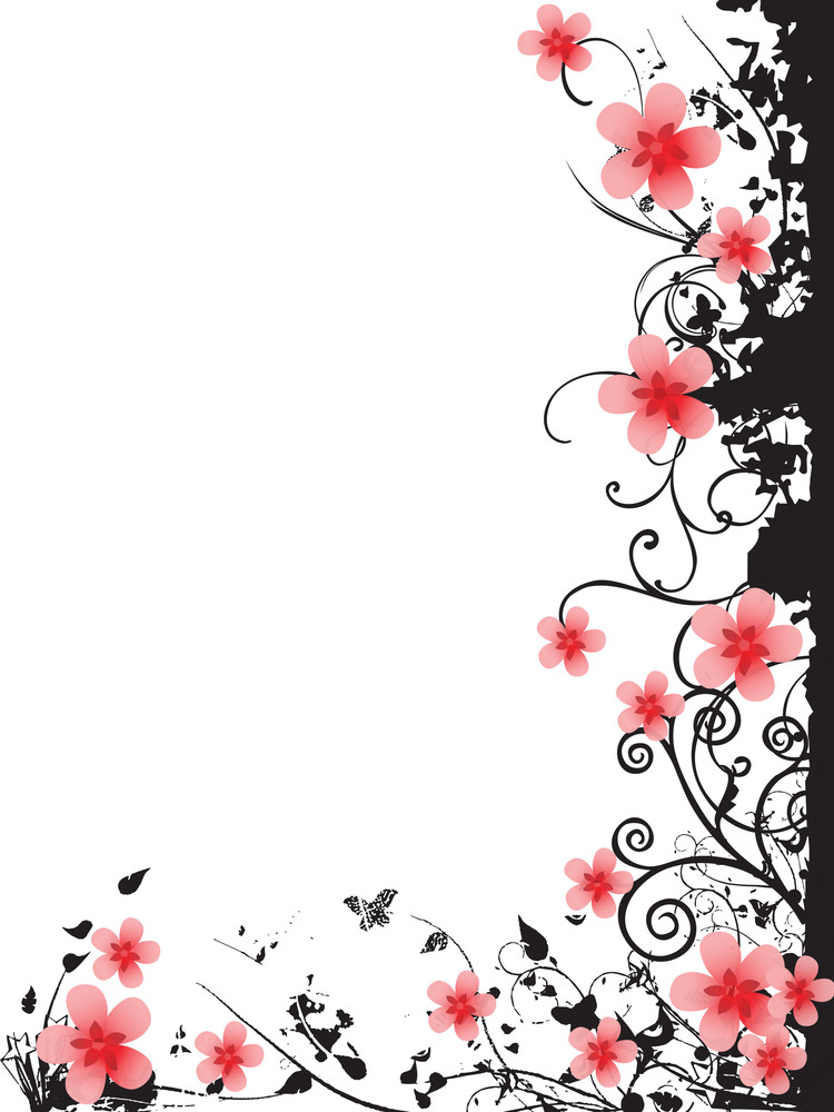 Abstract Floral Pattern Card