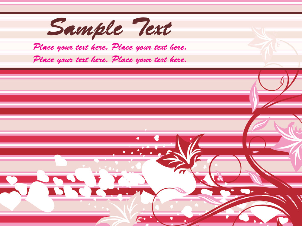 Abstract Floral Romantic Background
