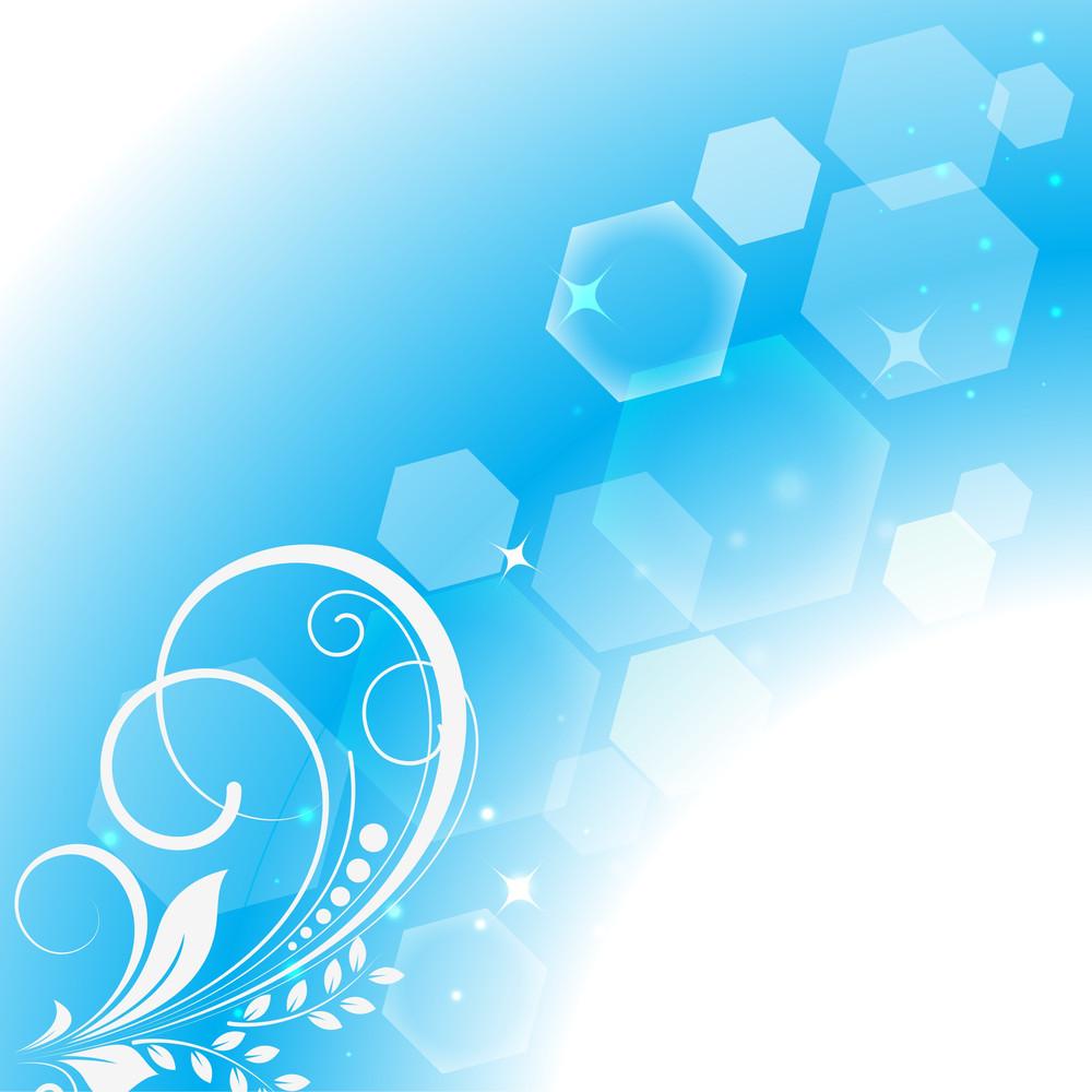 Abstract Flourish Bokeh Background