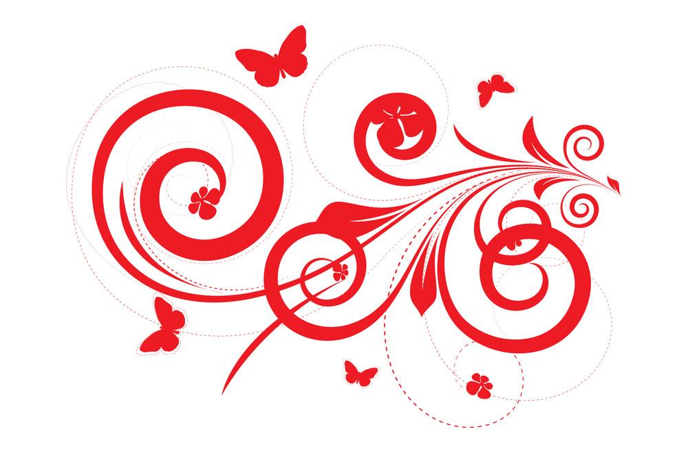 Abstract Flourish Design Art