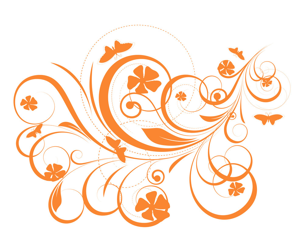 Abstract Flourish Elements Background