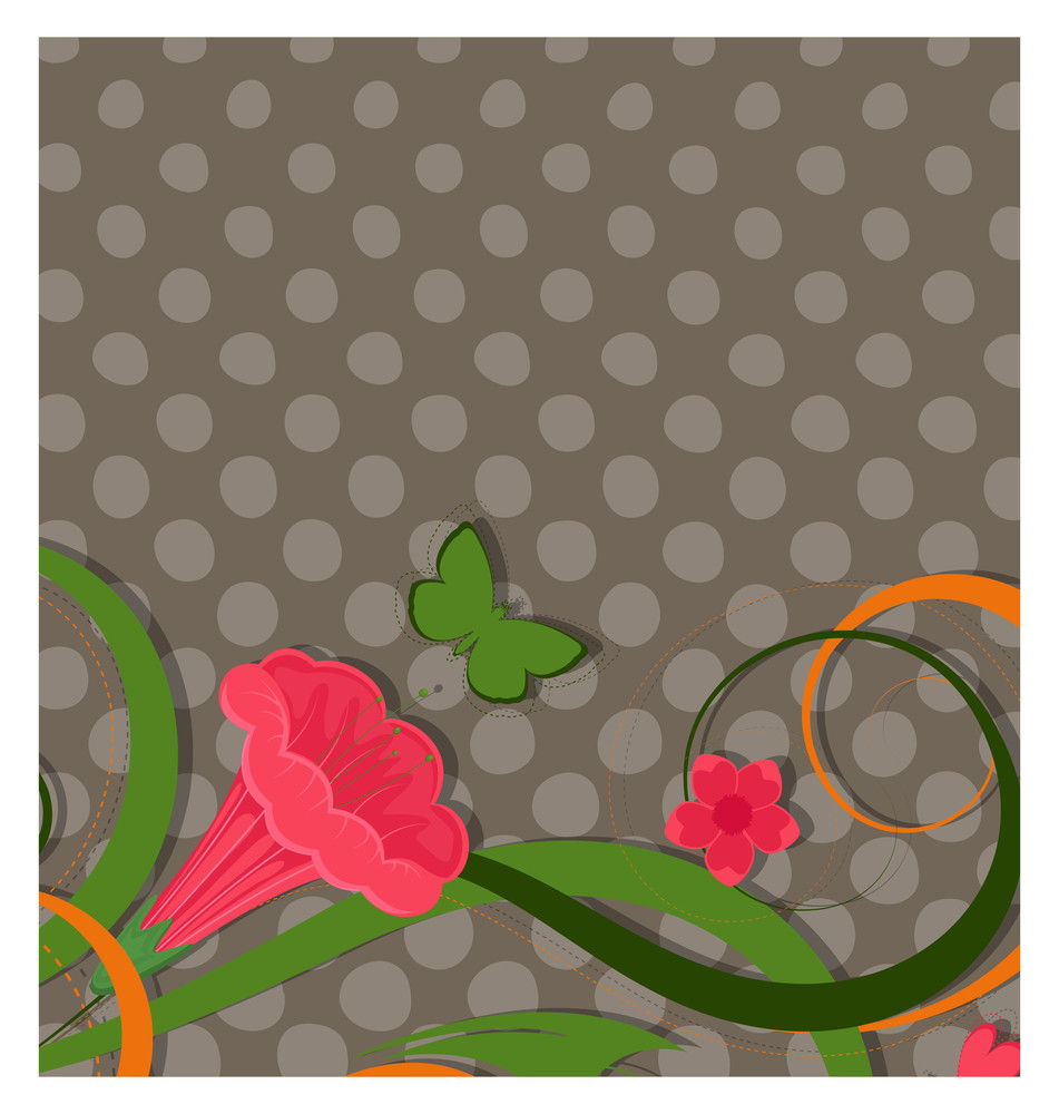 Abstract Flourish Halftone Background