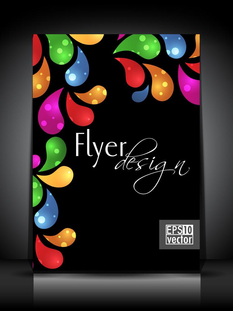 Abstract Flyer Design Illustration In Eps 10 Format.
