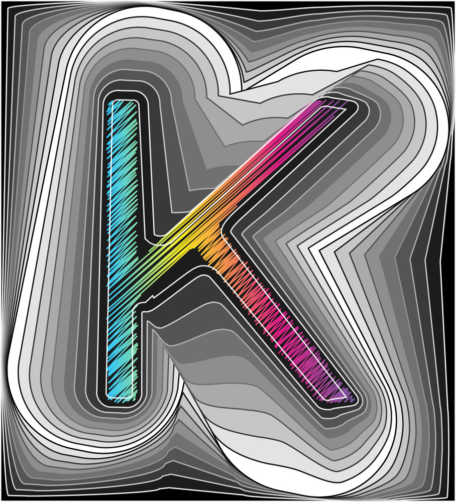 Abstract Font. Vector Illustration