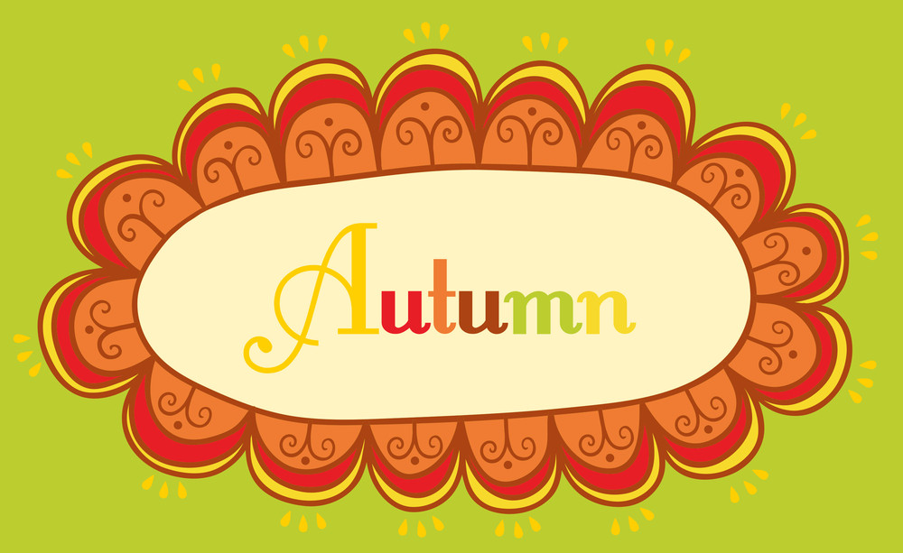 Abstract Frame For Your Text. Autumnal Theme Header. Vector Banner. Page Decoration