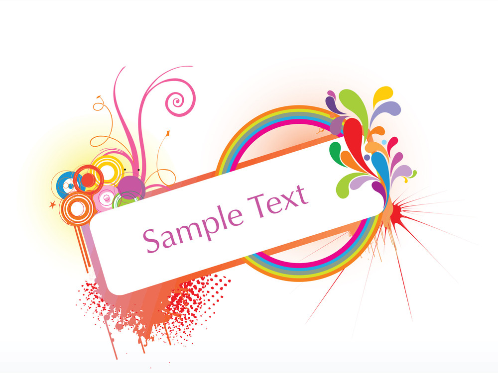 Abstract Funky Vector Background For Text12