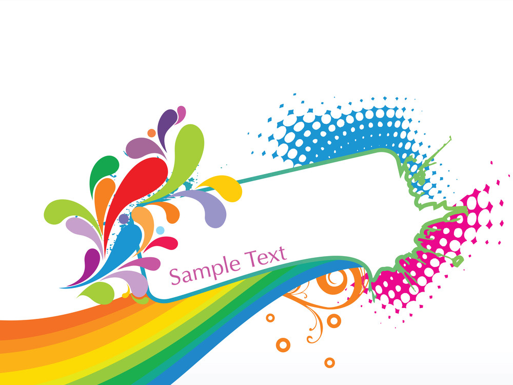 Abstract Funky Vector Background For Text1