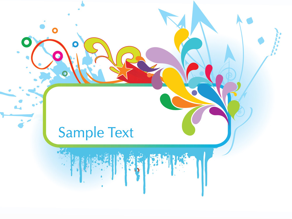 Abstract Funky Vector Background For Text20