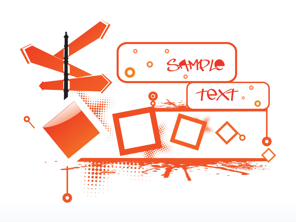 Abstract Funky Vector Background For Text4