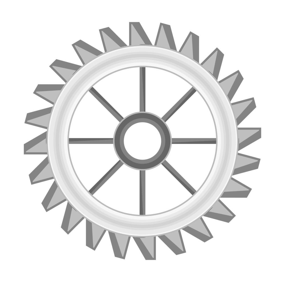 Abstract Gear Wheel Vector