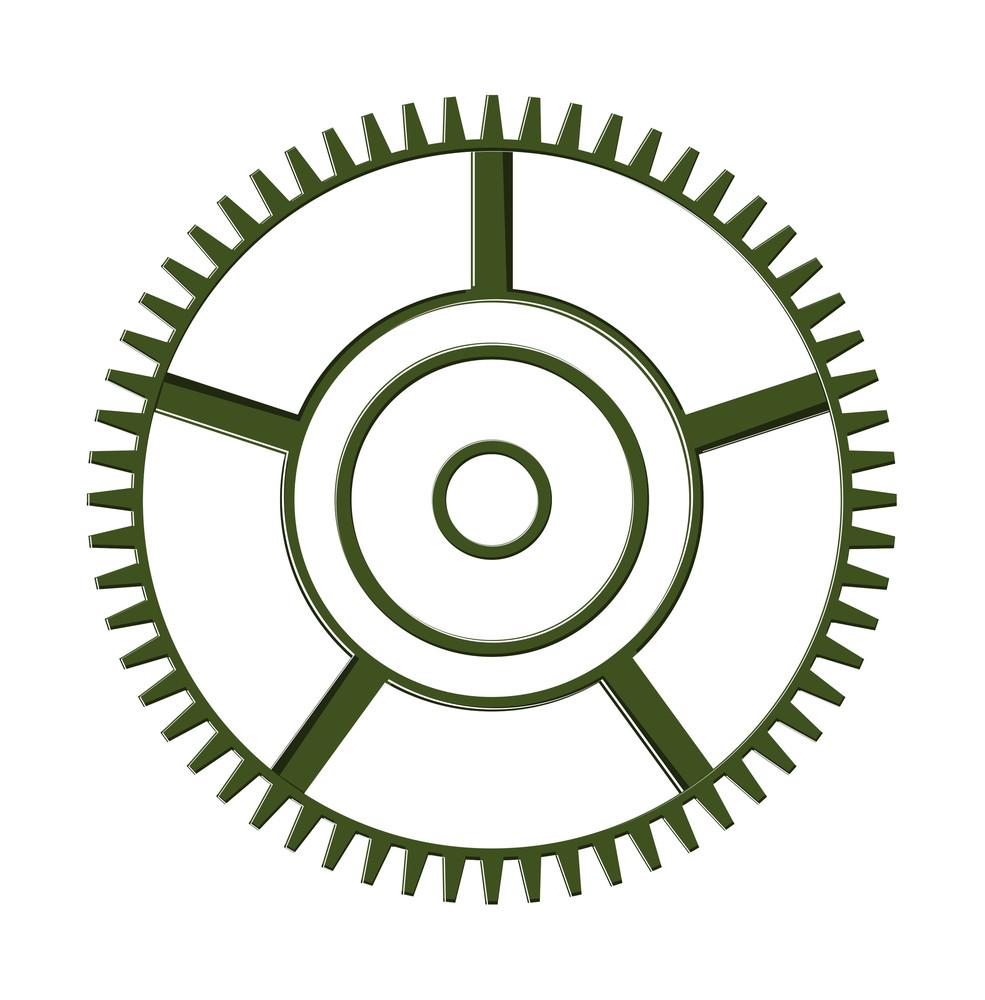 Abstract Gear Wheel