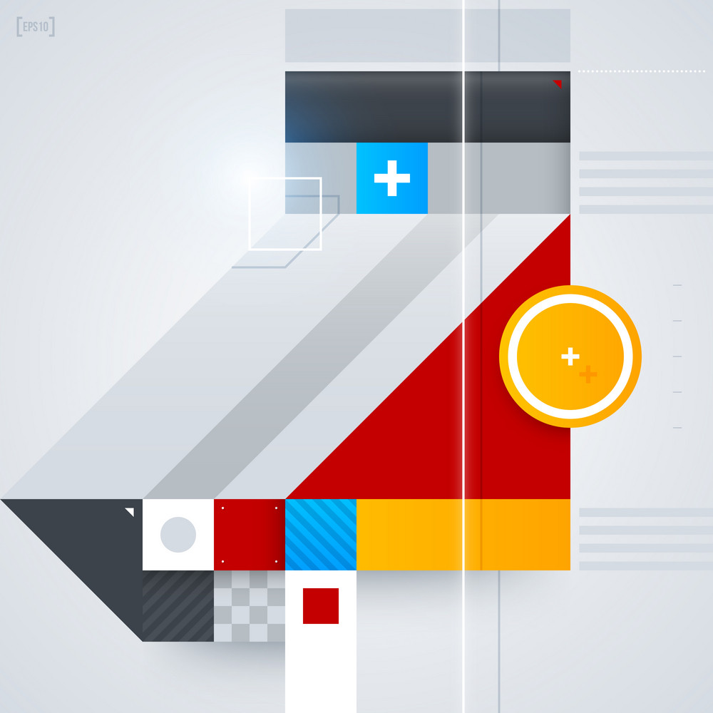 Abstract Design Element With Glossy Geometric Shapes. Useful For Digital Compositions And Layouts. Eps10
