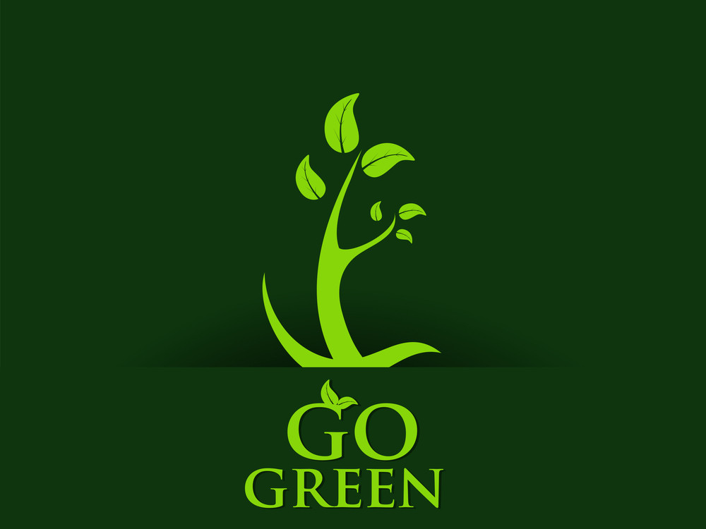 Abstract Go Green Concept Background