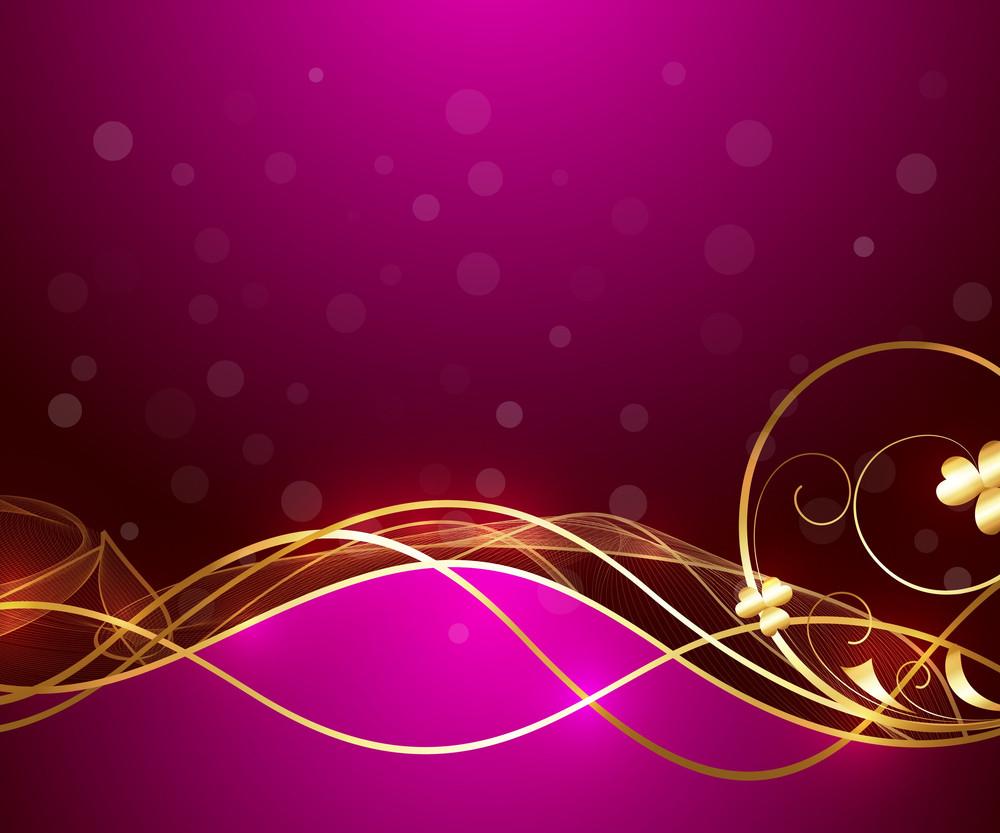 Abstract Golden Sparkles Flourish Design