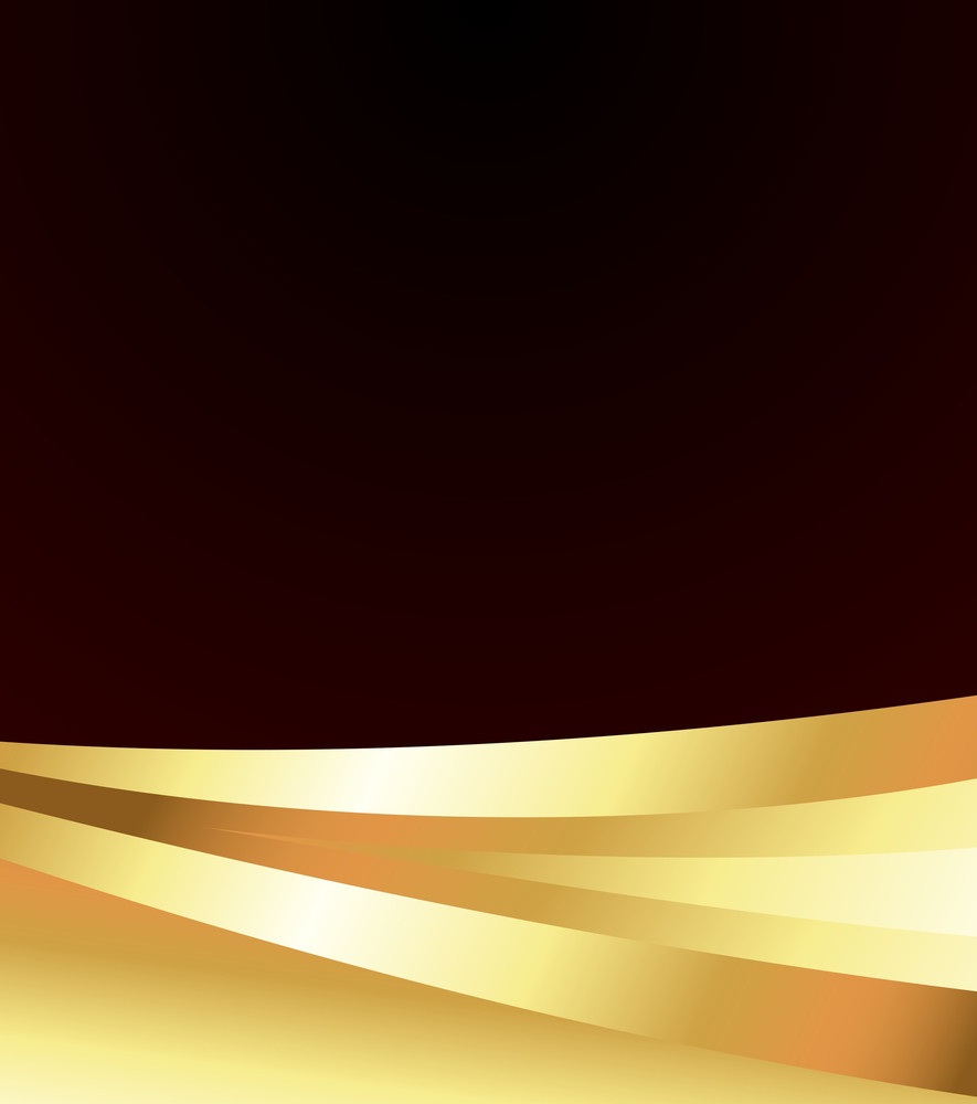 Abstract Golden Wavy Banner