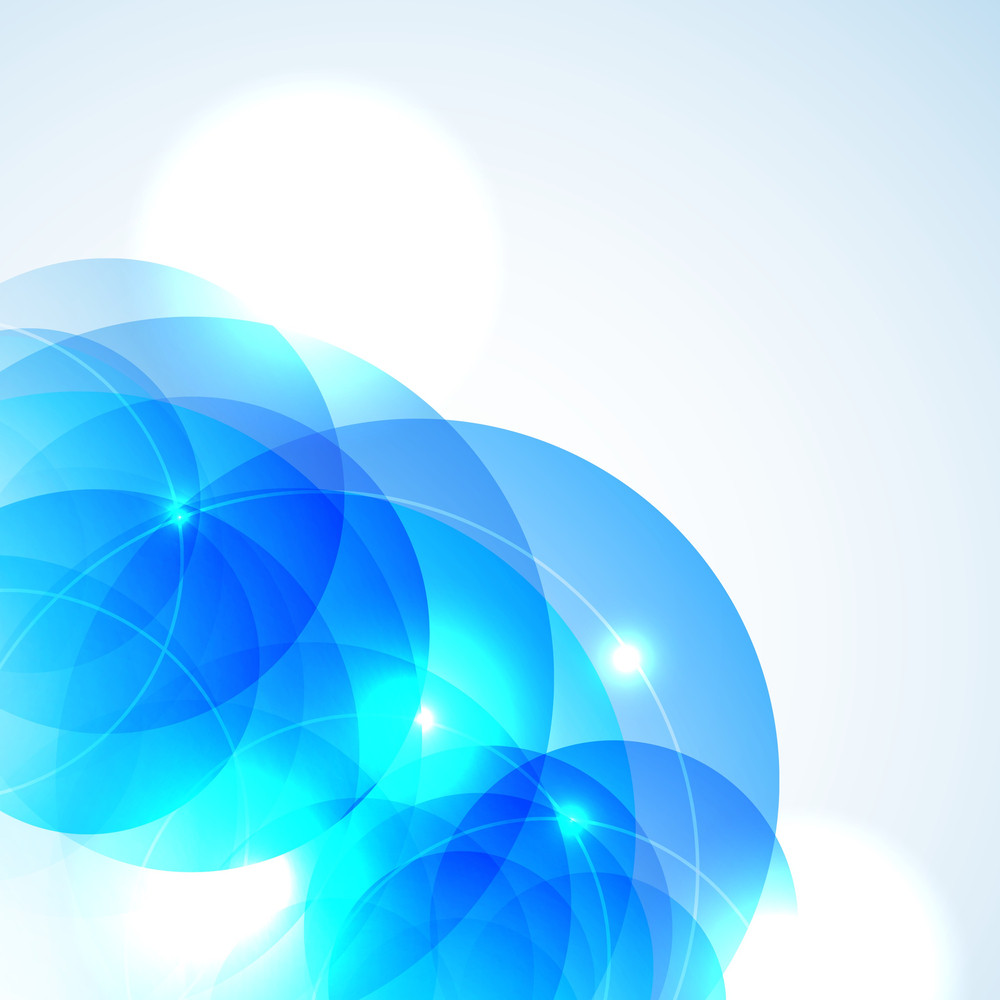 Abstract  Gometrical Background In Blue With Space For Your Text
