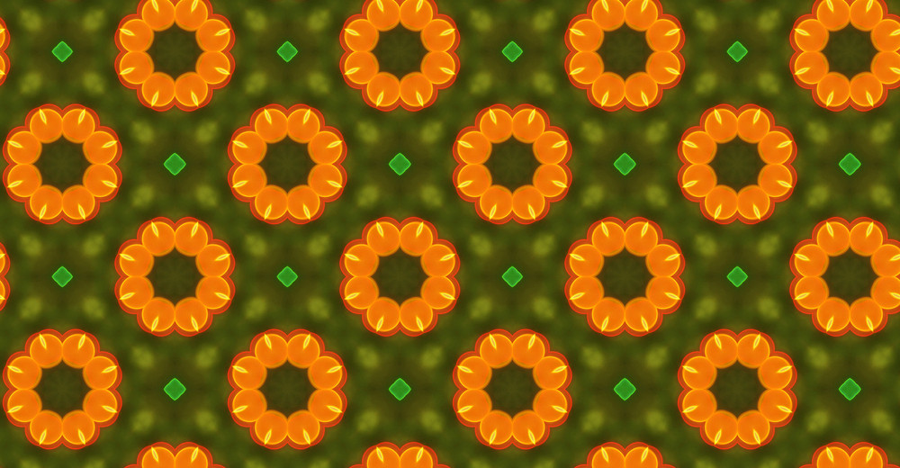 Abstract Graphic Floral Pattern Design