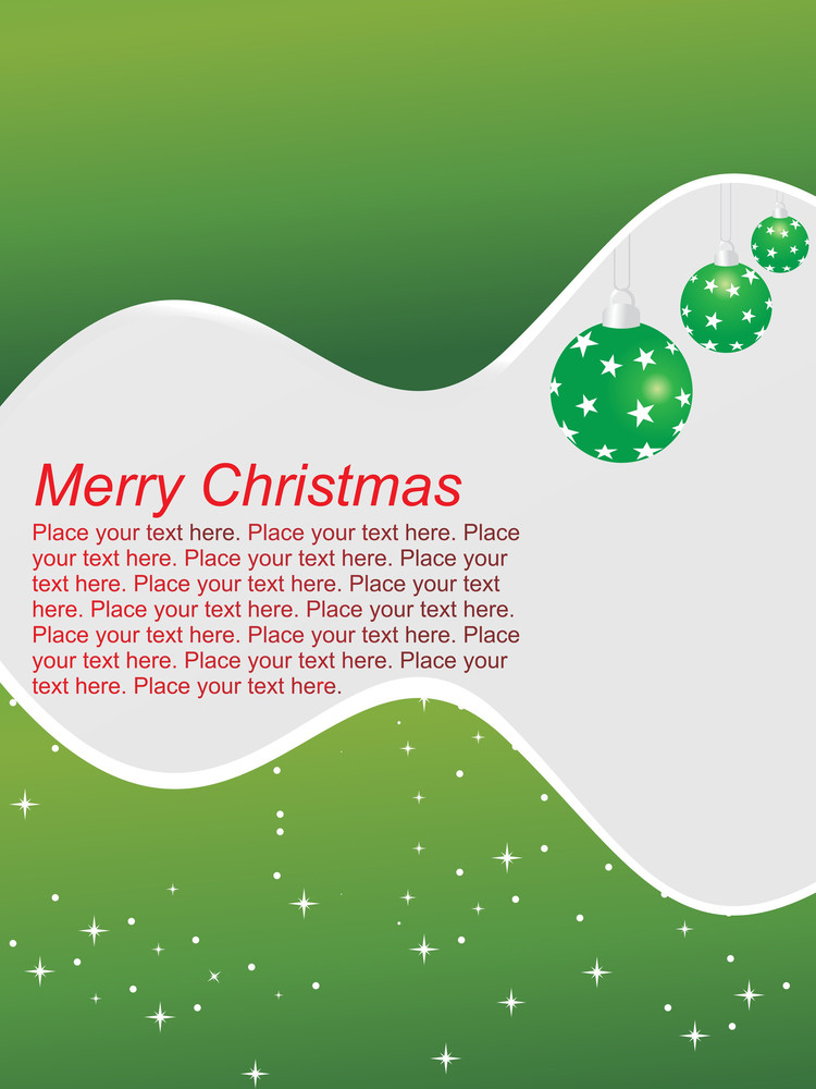 Abstract Green Background Text With Ball
