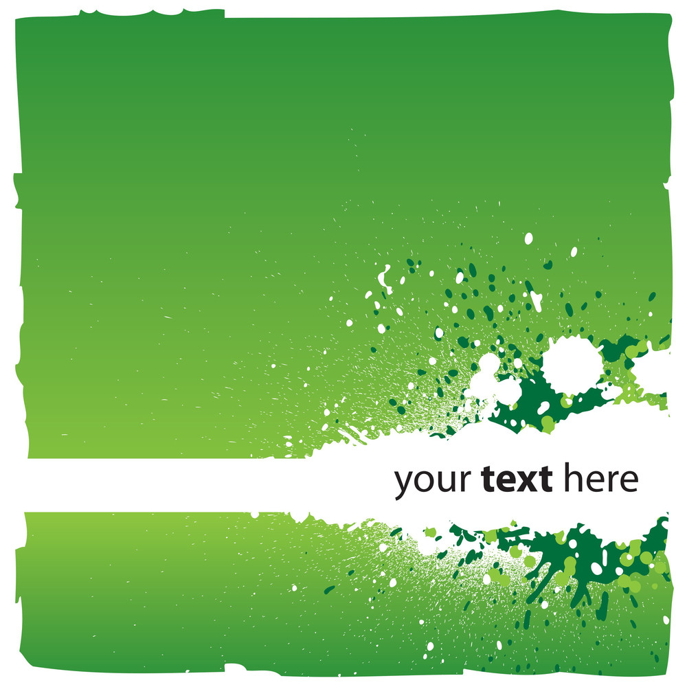 Abstract Green Background With Splatters