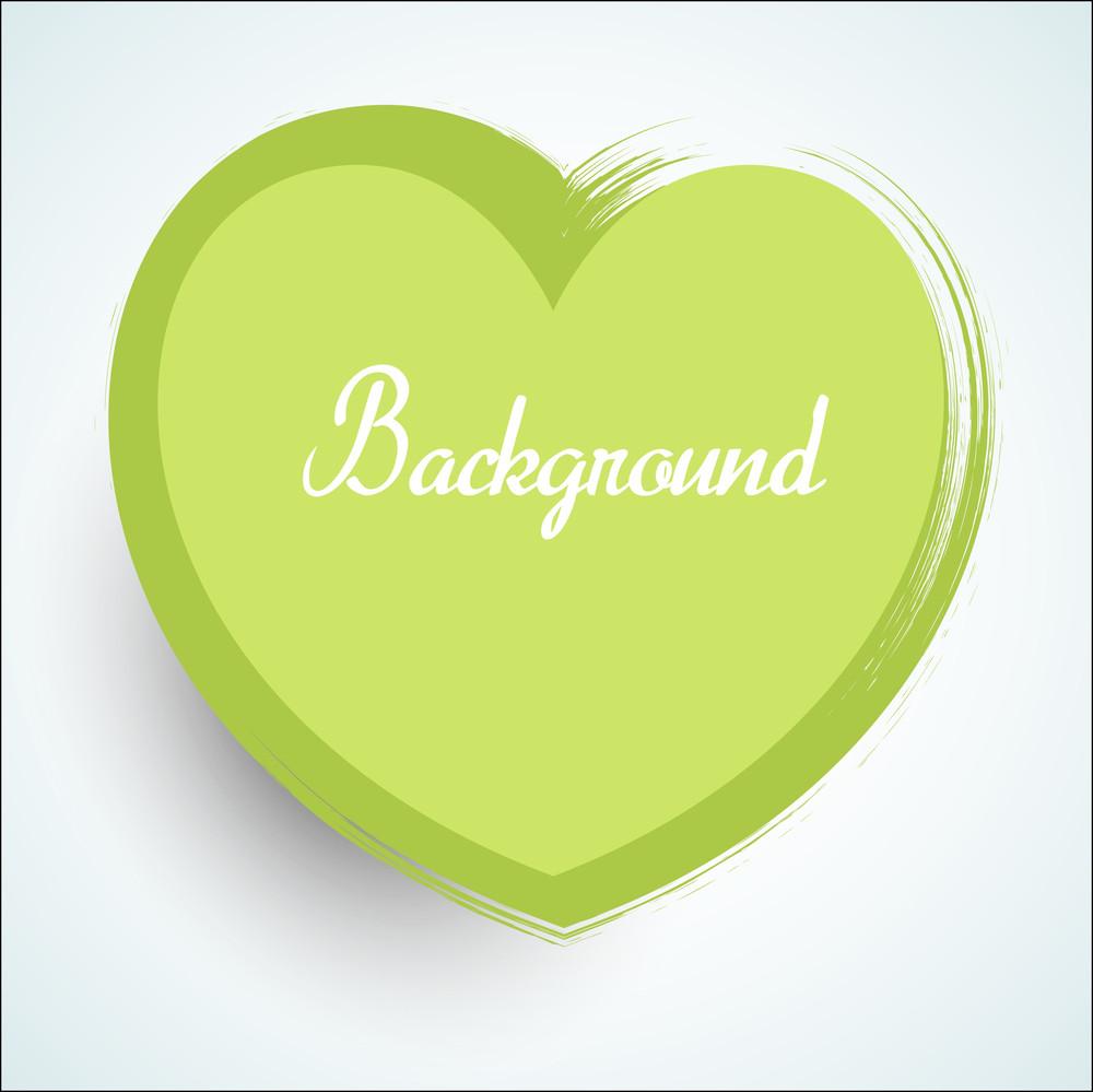 Abstract Green Grunge Valentine Heart