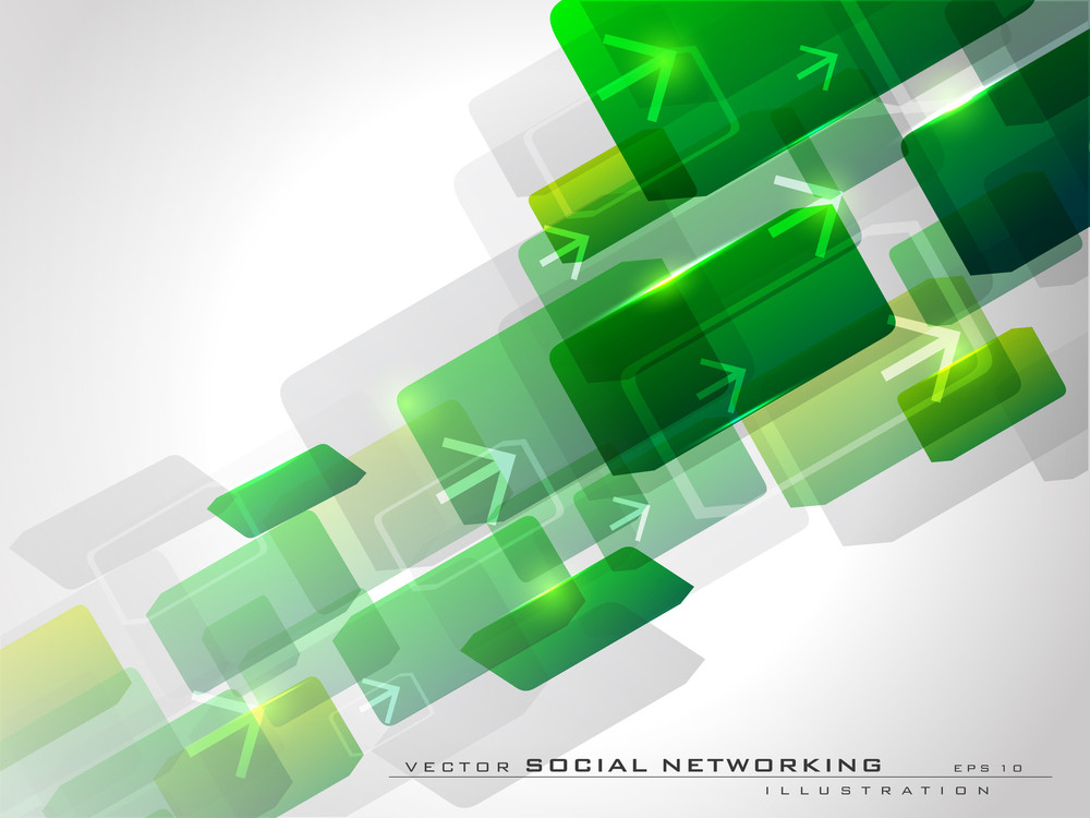 Abstract Green Network Background