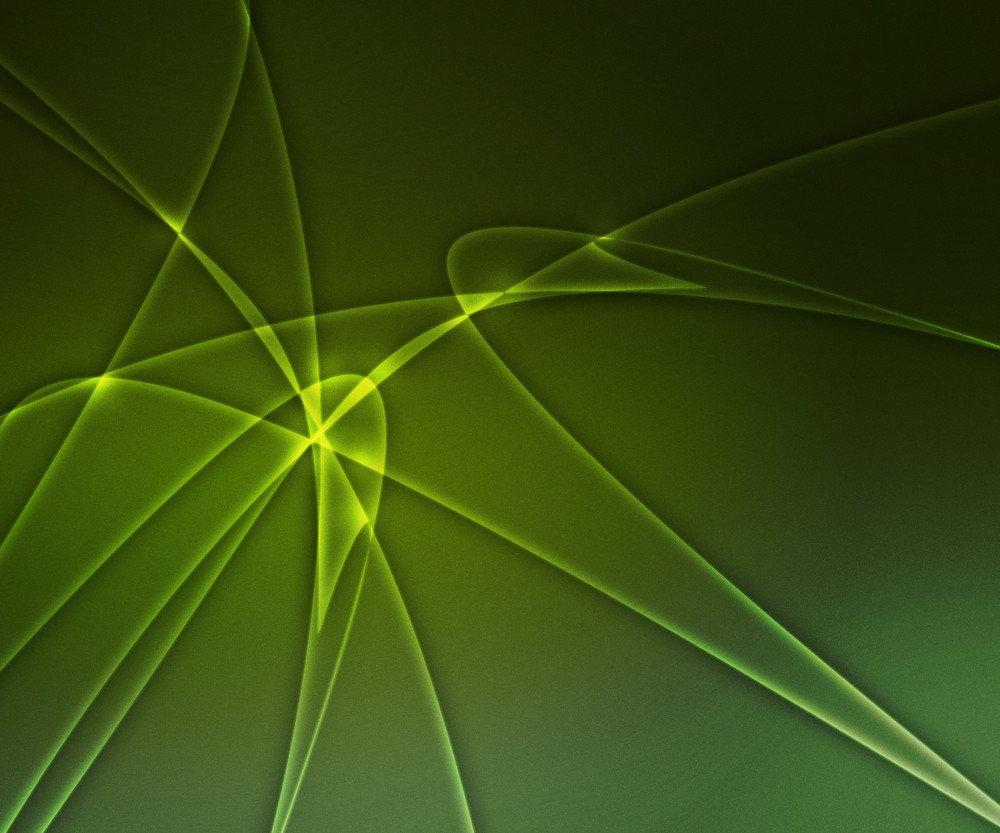 Abstract Green Shapes Background