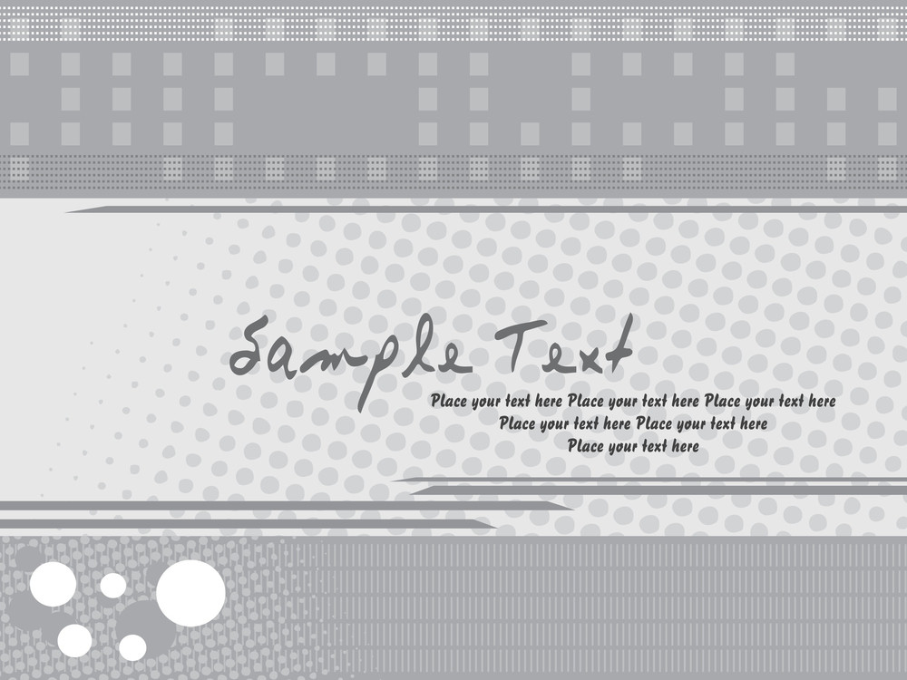 Abstract Grey Card With Vector