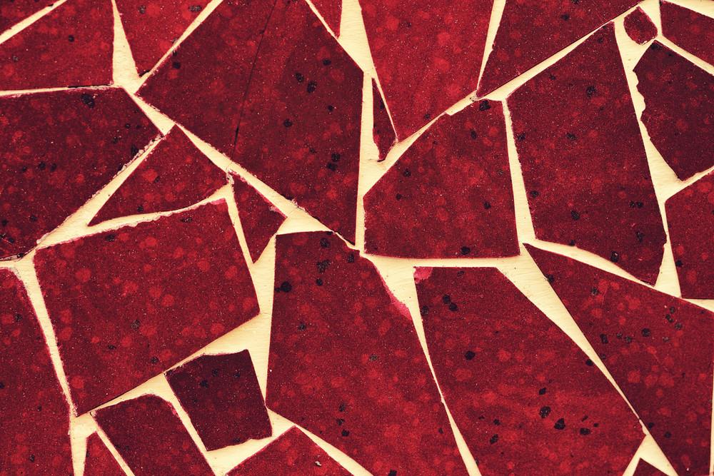 Abstract grunge brown broken tiles background
