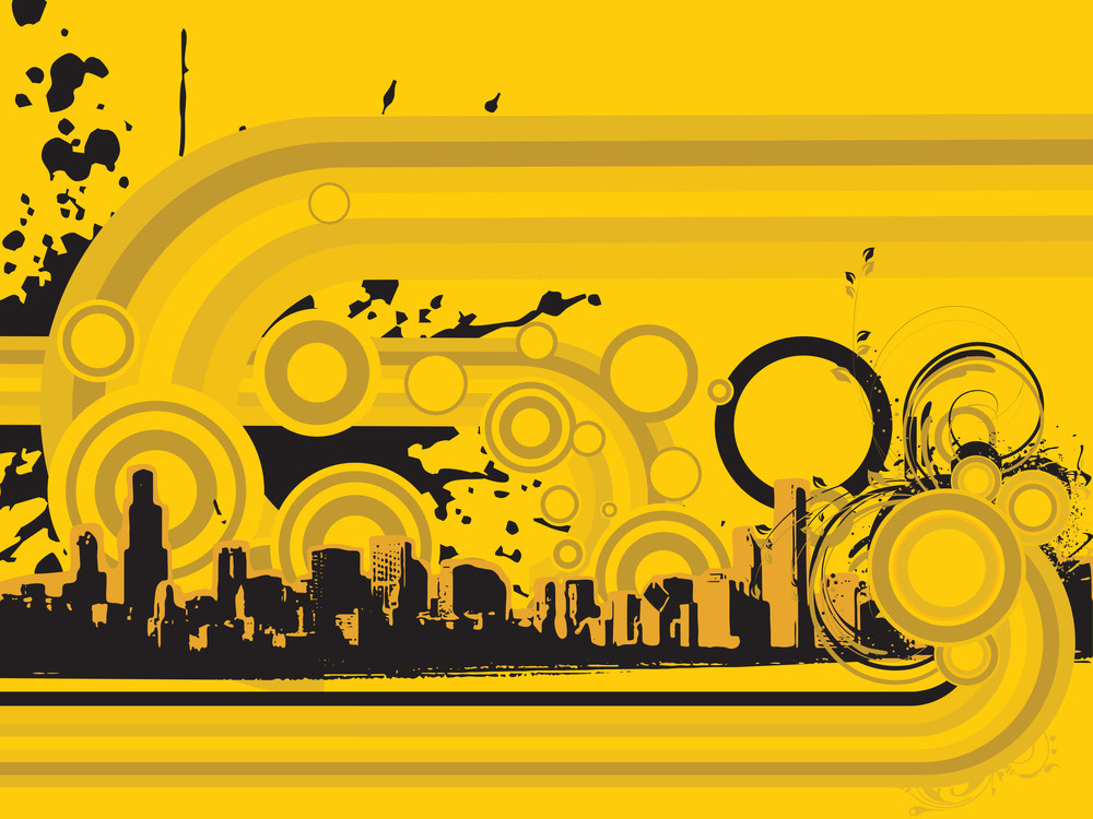 Abstract Grunge City Background