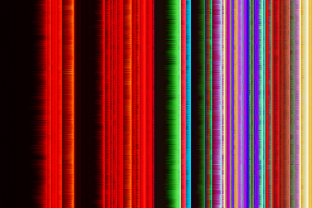 Abstract Grunge Colorful Lines