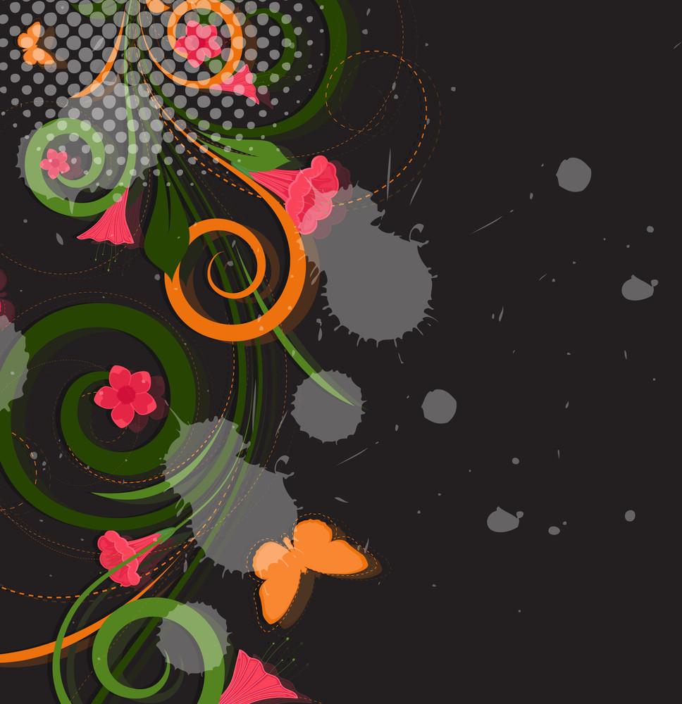 Abstract Grunge Flourish Designs
