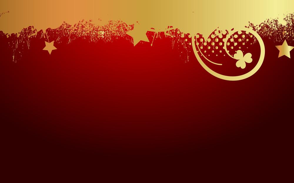 Abstract Grunge Flourish Golden Backdrop