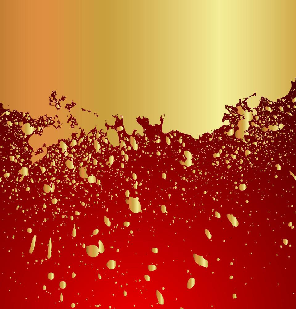 Abstract Grunge Golden Banner Design