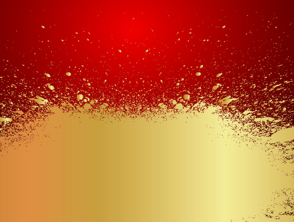 Abstract Grunge Golden Banner Design