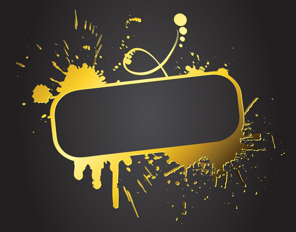 Abstract Grunge Golden Banner