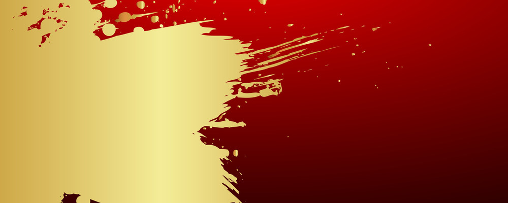 Abstract Grunge Golden Paint Banner