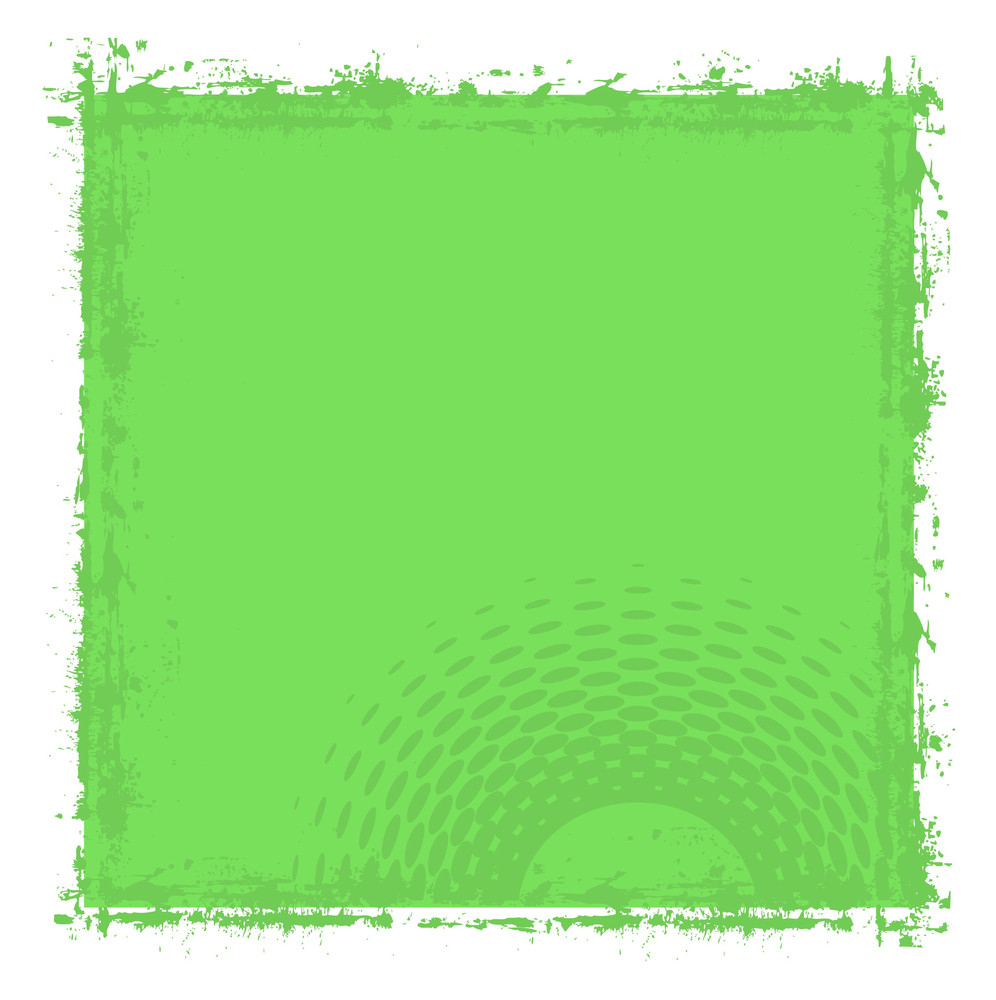 Abstract Grunge Halftone Frame Banner