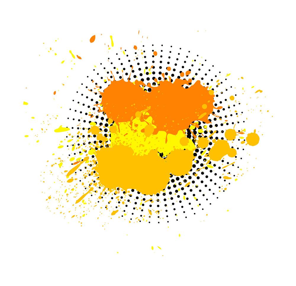 Abstract Grunge Halftone Splashes