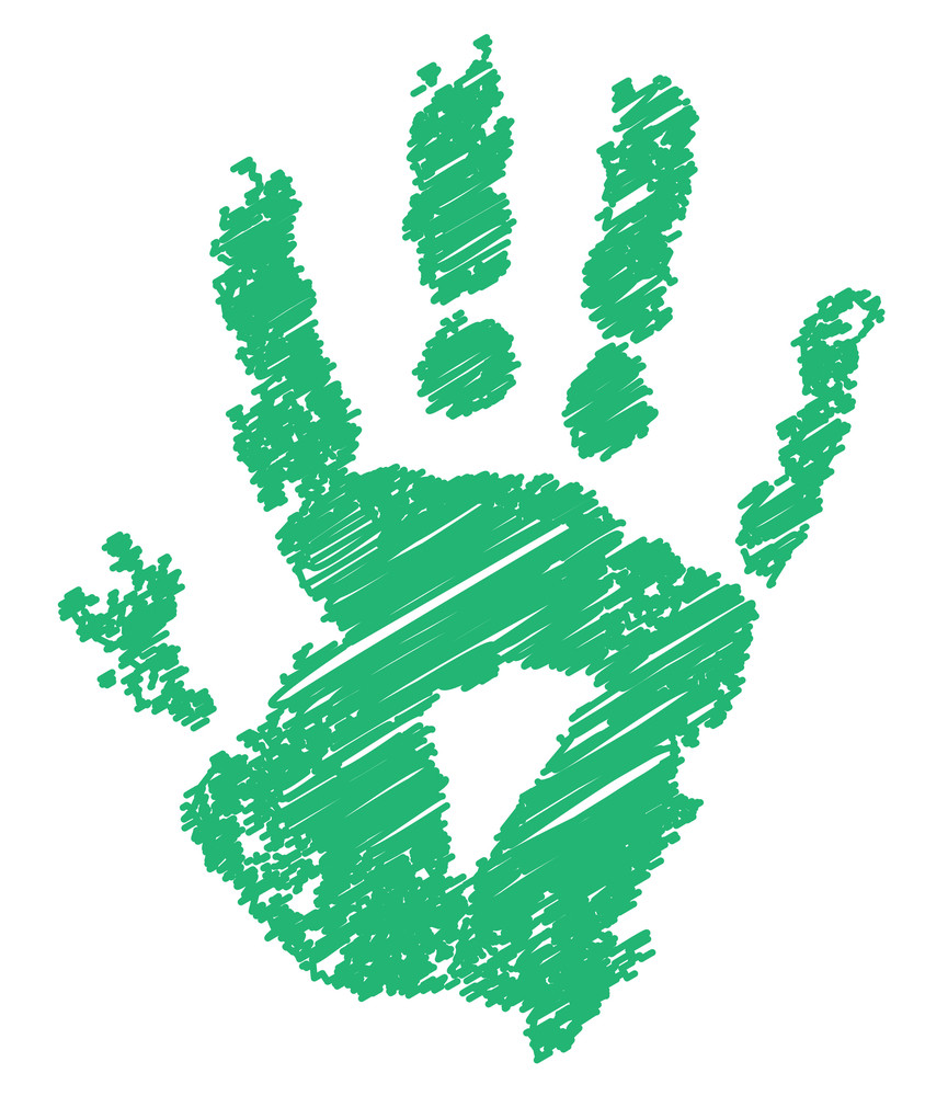 Abstract Grunge Hand Print