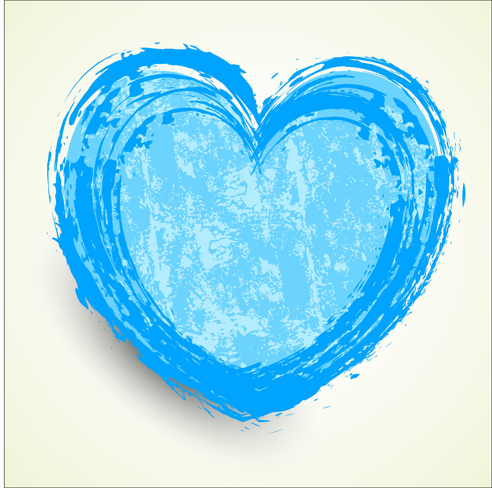 Abstract Grunge Heart