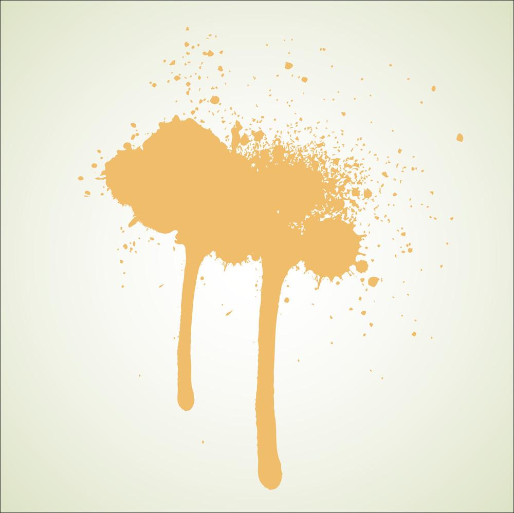 Abstract Grunge Ink Splashes