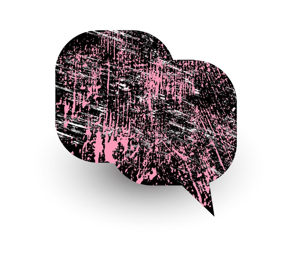 Abstract Grunge Texture Comic Speech Bubble Design
