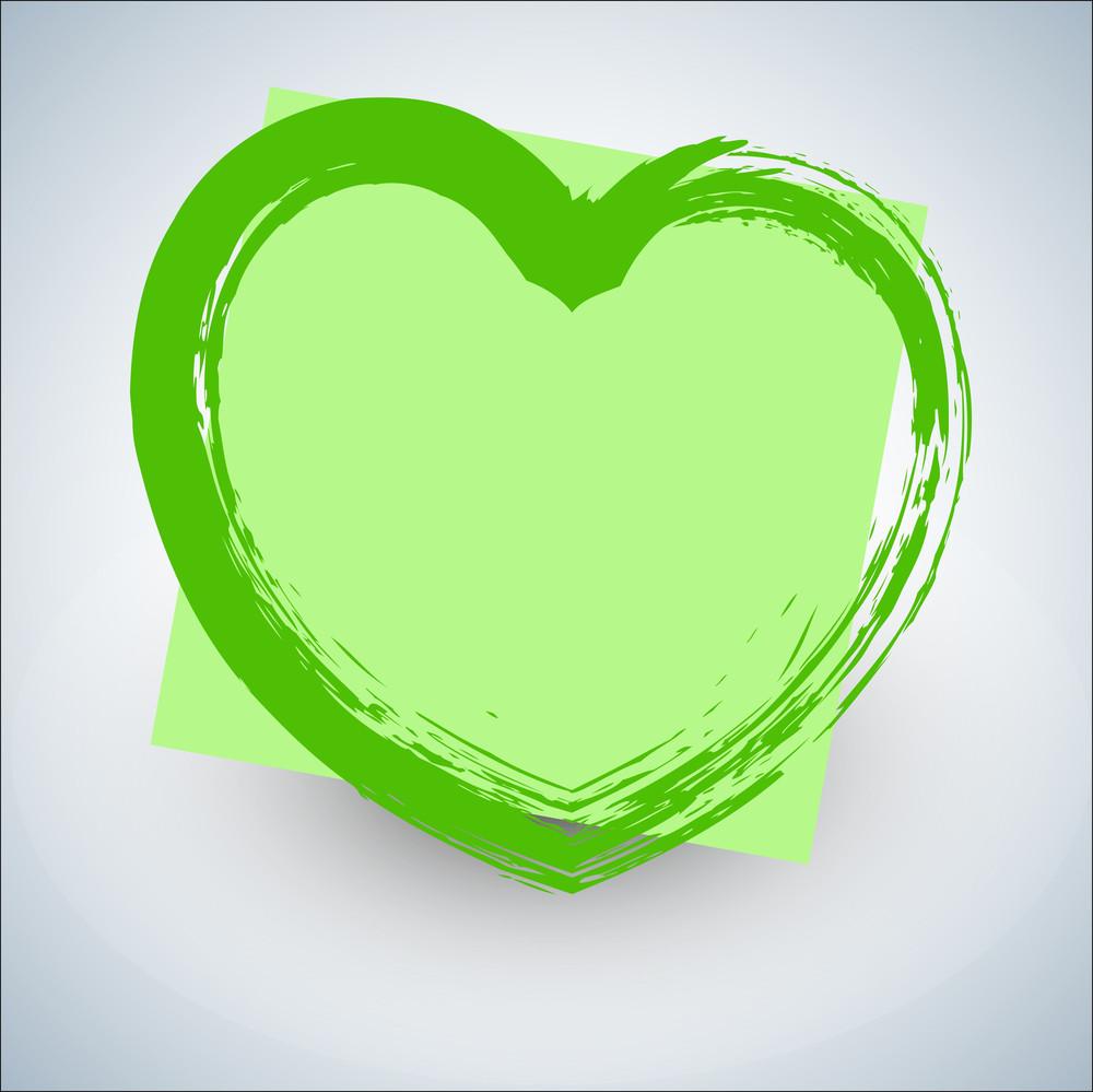 Abstract Grunge Texture Heart Banner Design Vector