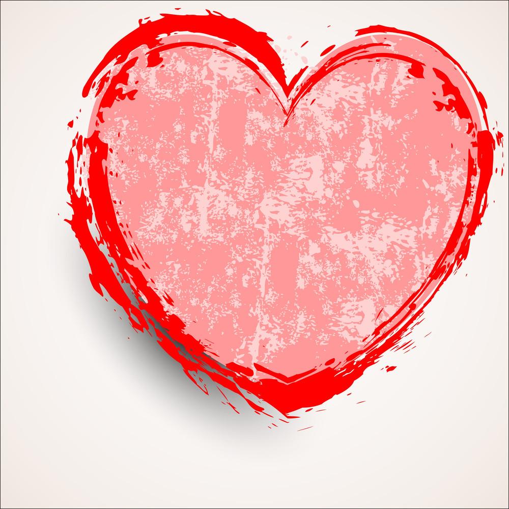 Abstract Grunge Texture Heart Banner