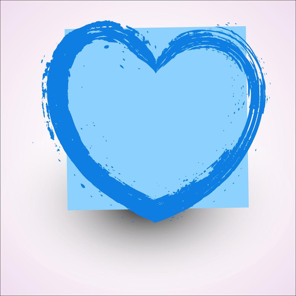 Abstract Grunge Texture Heart Frame