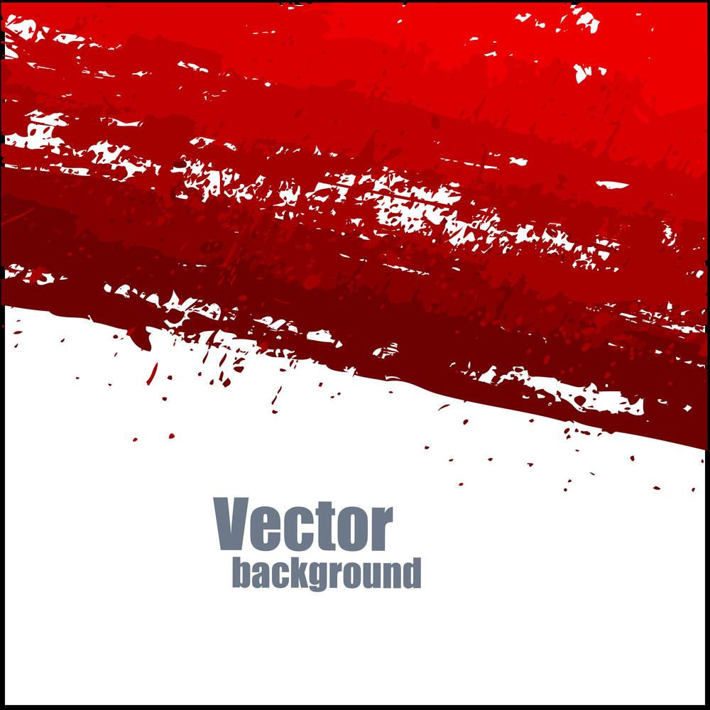 Abstract Grunge Texture Red Splash Banner