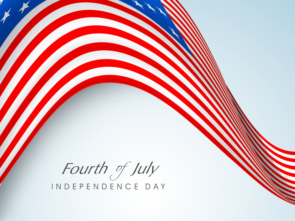 Abstract Grungy Background In American Flag Color For 4th Of July American Independence Day And Other Occasions Or Events With National Flag Wave Background.